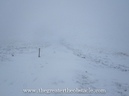 Looking down the hill from the West Kip…visibility?