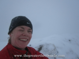 It was quite windy at the top of the East Kip.