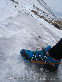 Even with the correct footwear it was challenging.