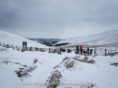 Top of the hill at Maiden's Cleugh