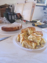 Wk5 waiting for me when I got back from my bike. Did someone say cake? Don't mind if I do!