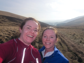 Wk4 Me and cousin Beth looking a little flushed after running up a hill…it's genetic!